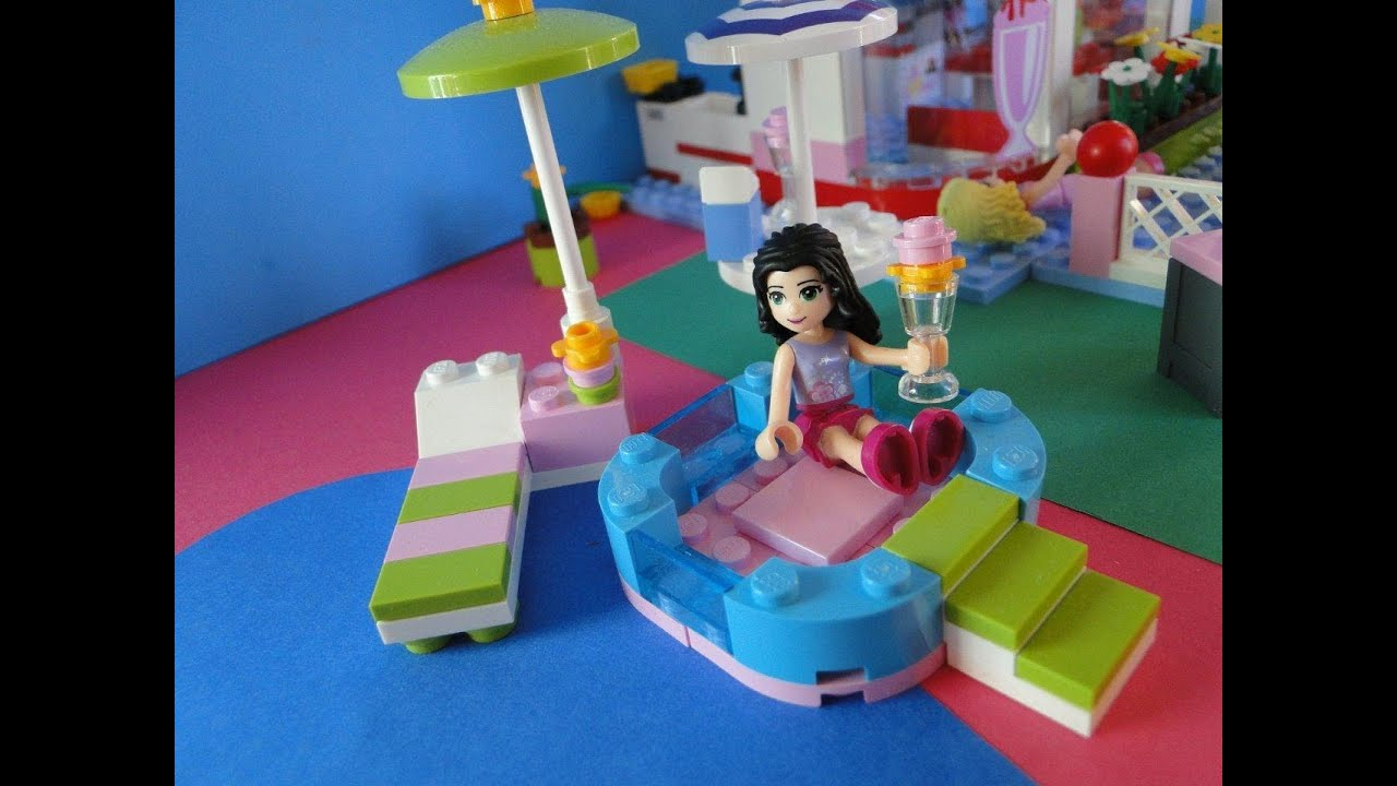 lego friends la piscine d 39 emma 3931 youtube