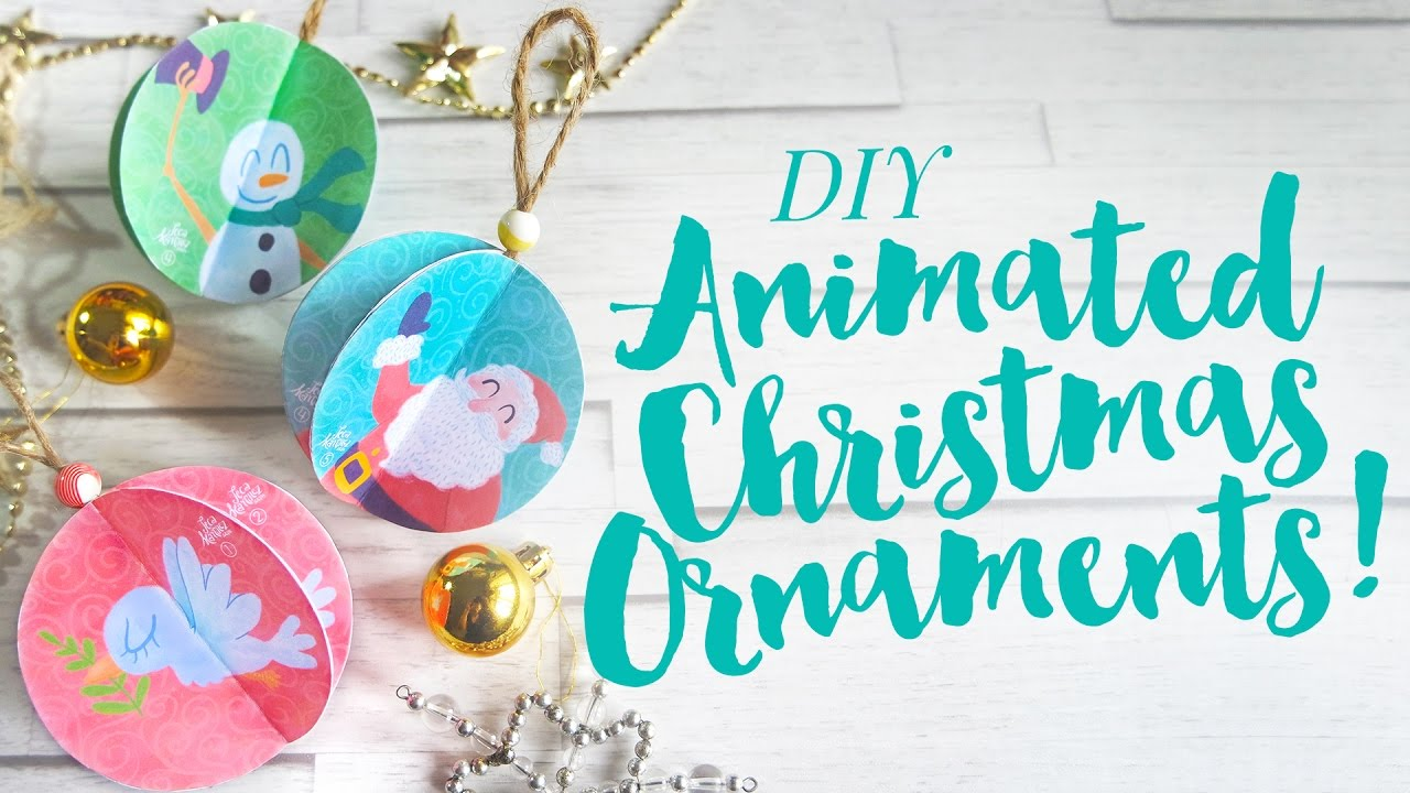 diy animated christmas ornaments jecalidays - Animated Christmas Ornaments