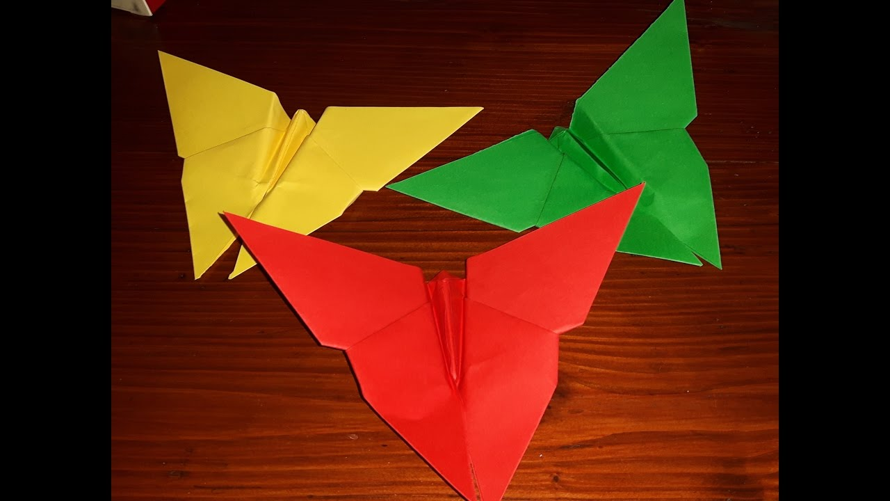 Come Fare Una Farfalla Di Cartahow To Make A Paper Butterfly