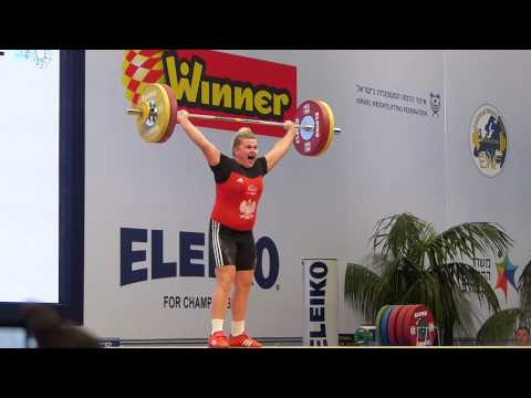 European Weightlifting Championships 2014 Magdalena Pasko 103kg Snatch