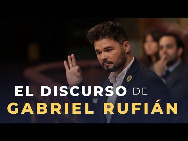 El discurso de Gabriel Rufián en 6 minutos (y la réplica de Sánchez)