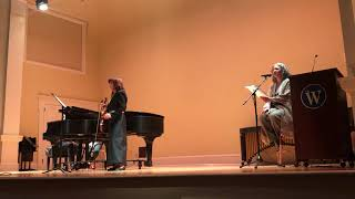 Dr. Roumena Georgieva performs The Spirit Suite at Women's Music Festival by Dr. Sharon J. Willis