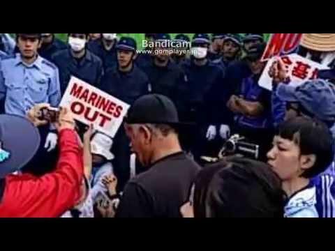 【沖縄】「韓国の仲間を帰せー」と辺野古で叫ぶ活動家達
