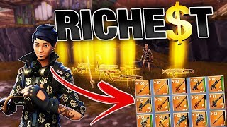 Richest Kid gives me RAREST Guns & Swords! | Fortnite Save the World PVE