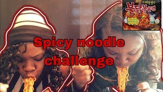 Extreme spicy noodles challenge