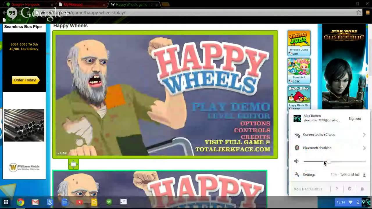 Good Games For Chromebook 2 Happy Wheels Youtube