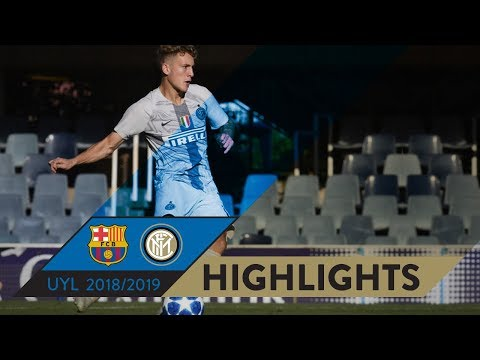 BARCELONA vs INTER 2-1 | HIGHLIGHTS | Matchday 03 - UEFA Youth League 2018/19