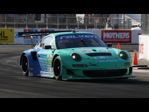 team falken tire porsche 911 gt3 rsr race car alms long beach grand prix youtube. Black Bedroom Furniture Sets. Home Design Ideas
