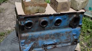 "Ремонт двигателя ВАЗ. Чистка блока цилиндров. ч ""8""."