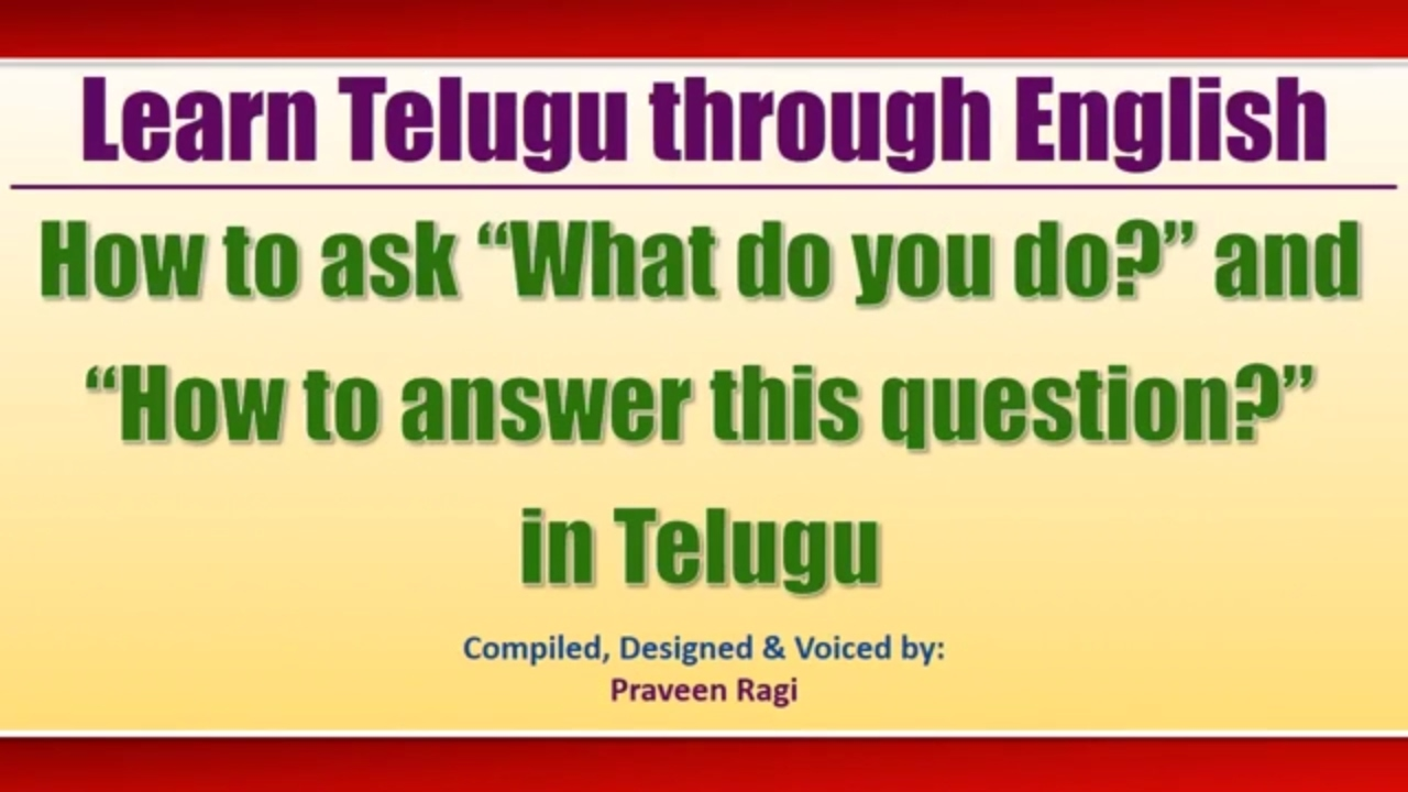 English & Hindi to Telugu Lessons - Learn Telugu through ...