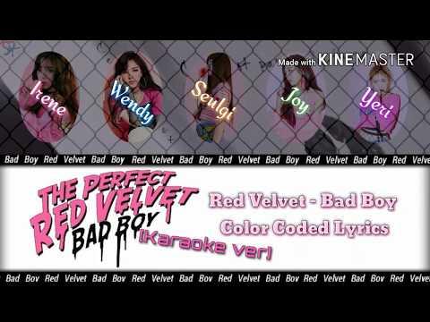 Red Velvet (레드벨벳) - Bad Boy [Karaoke Ver.] Color Coded Lyrics [Instrumental With Vocal/Kpop]
