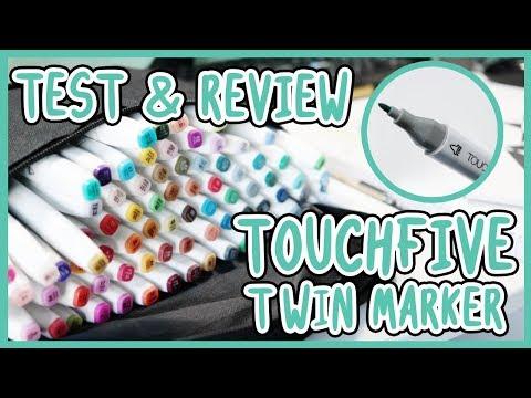 TEST & REVIEW TOUCHFIVE TWIN MARKER (y en muchos papeles xD)