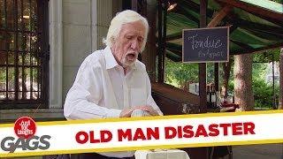 Epic Old Man - Lighter Fluid Disaster Prank!