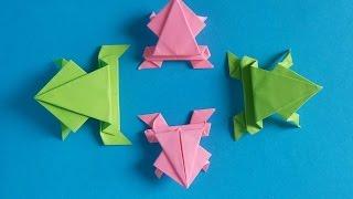 Xếp con ếch - frog - Origami