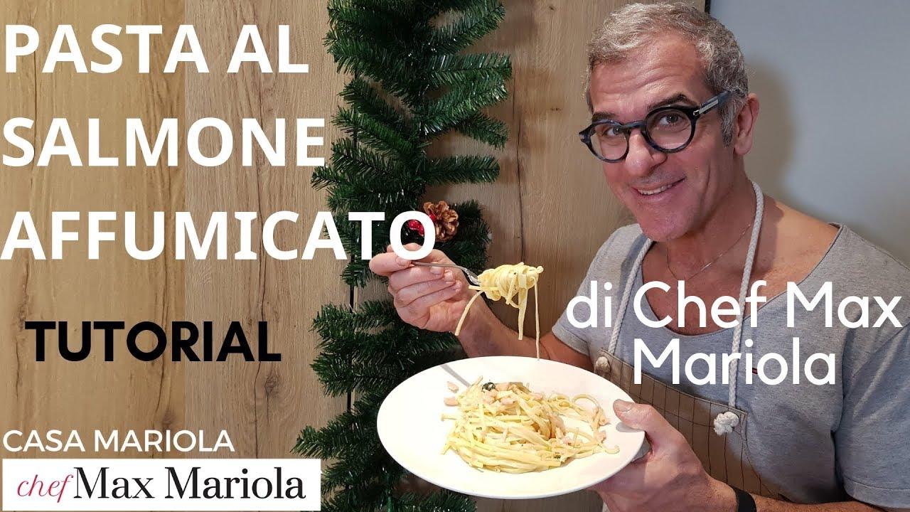 PASTA AL SALMONE AFFUMICATO - TUTORIAL - la video ricetta di Chef Max Mariola
