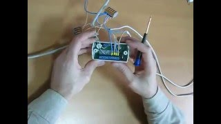 Монтаж сетевого контроллера совмещенного со считывателем IRON LOGIC Matrix-II Net