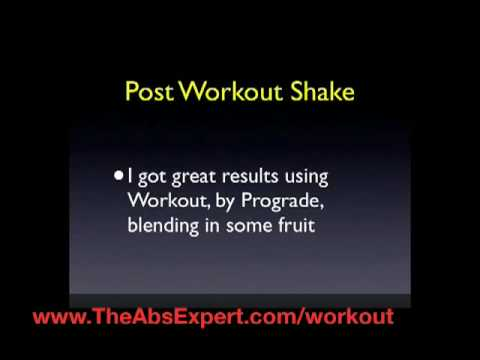 Post Workout Nutrition to Get a Flat Stomach