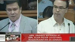 QRT: Sen. Jinggoy Estrada at Sen. Alan Peter Cayetano, nagkakainitan sa Senado