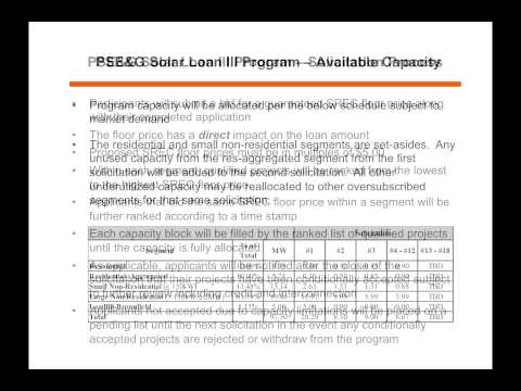 PSE&G's Solar Loan Program for Residential Homeowners