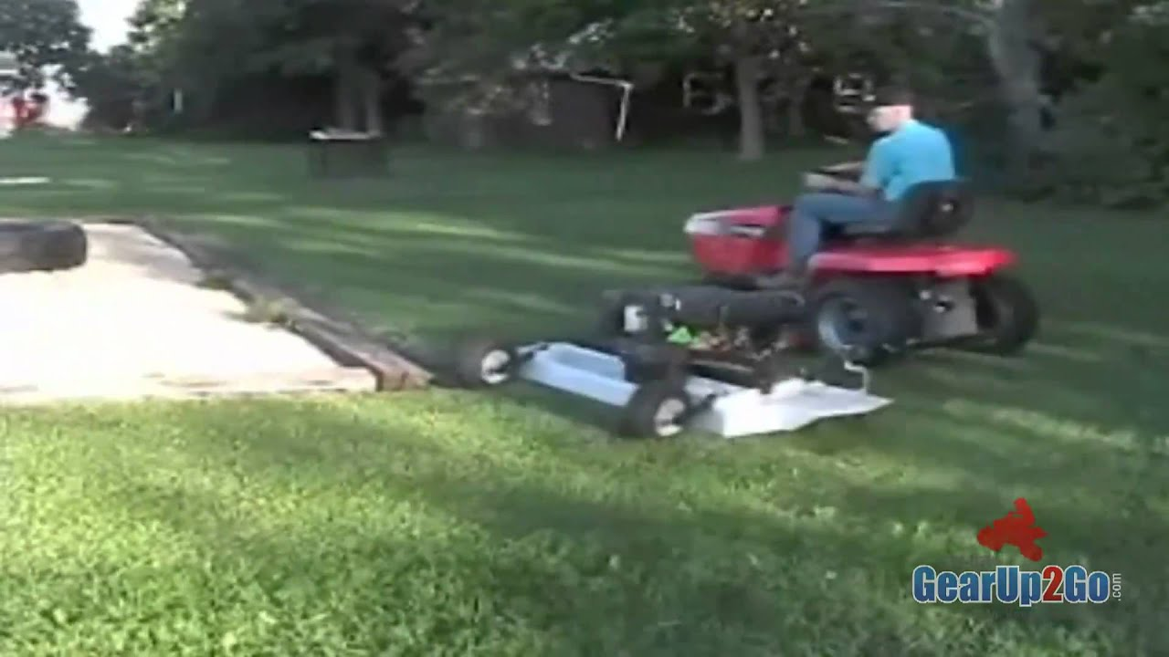 Offset Finish Mower : Finish cut offset mowing example youtube