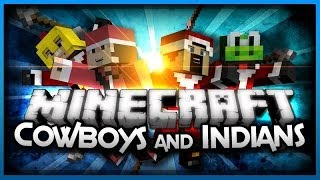 Minecraft Mini-game:Cowboys and Indians! w/ AntVenom,Palmerater & YoshitoMario! Part 2