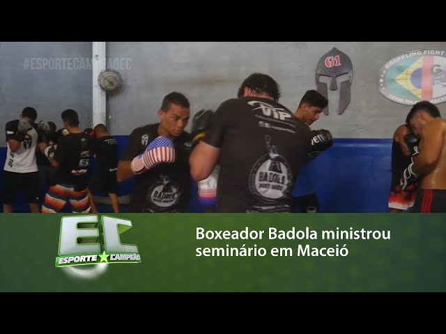 Boxeador Badola ministrou seminário em Maceió