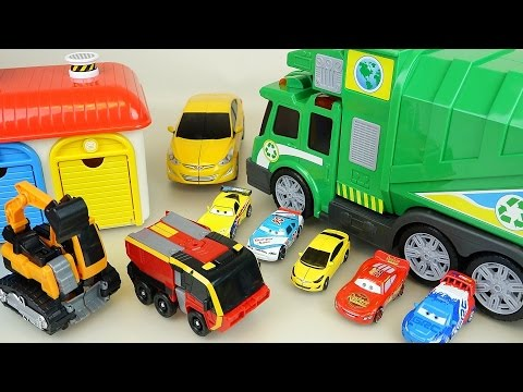 Thumbnail: Carbot transformer car toys with Truck and cars toy play