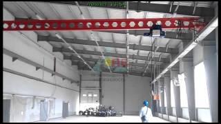 Кран мостовой опорный г/п 5 т, пролет 13,5 м, испытание вхолостую(Видео предоставлено группой компаний