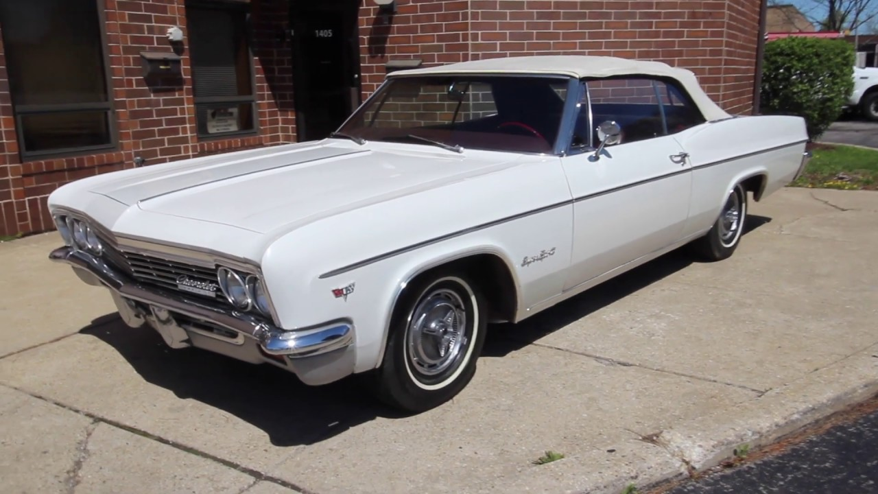1966 Chevrolet Impala Ss Convertible Real Super Sport For