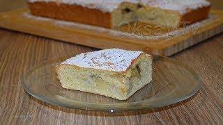 Яблочный пирог из творожного теста. Cottage cheese pastry pie with apples.