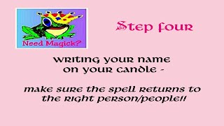 Lady Sharona Creating Candle Spell Class, Episode 3 - Name