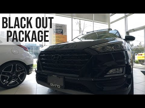Hyundai Tucson Black Out Package Cinematic