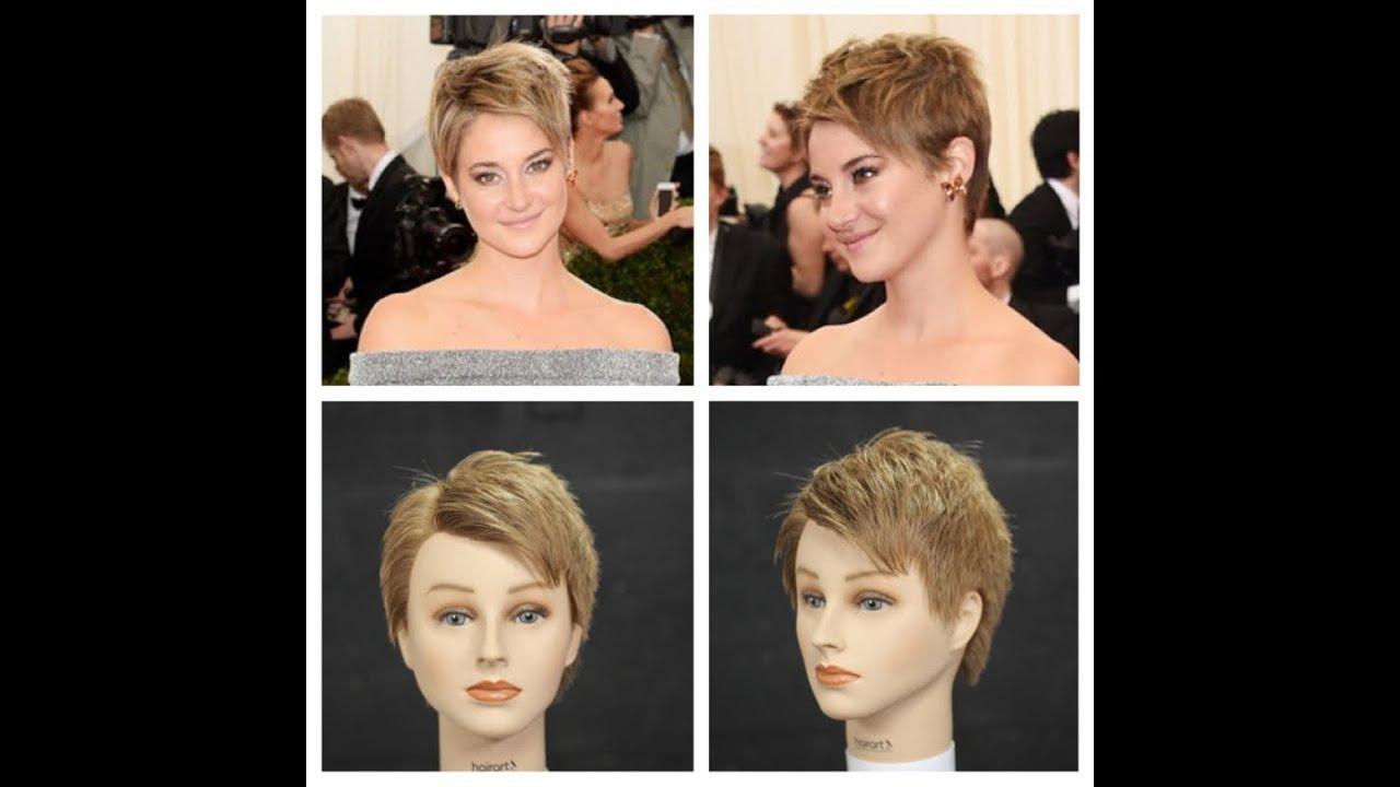 Shailene Woodley 2014 NEW Haircut Tutorial - YouTube