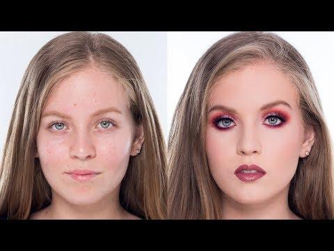 Maquillaje  Colorido en Tonos Rojos Ft Adriana Bravo Mejía