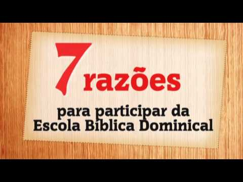 Convite A Escola Bíblica Dominical Youtube