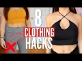 8 CLOTHING Hacks EVERY Girl MUST KNOW !!!