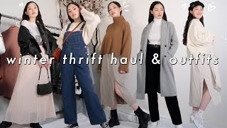 WINTER THRIFT HAUL & how i style simple cute winter outfits