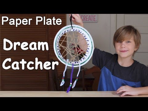 Paper Plate Dream Catcher   Easy Craft for Kids
