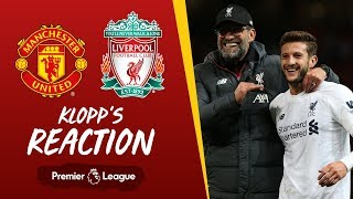 Klopp's reaction: Tactical changes, Lallana and VAR | Man Utd vs Liverpool