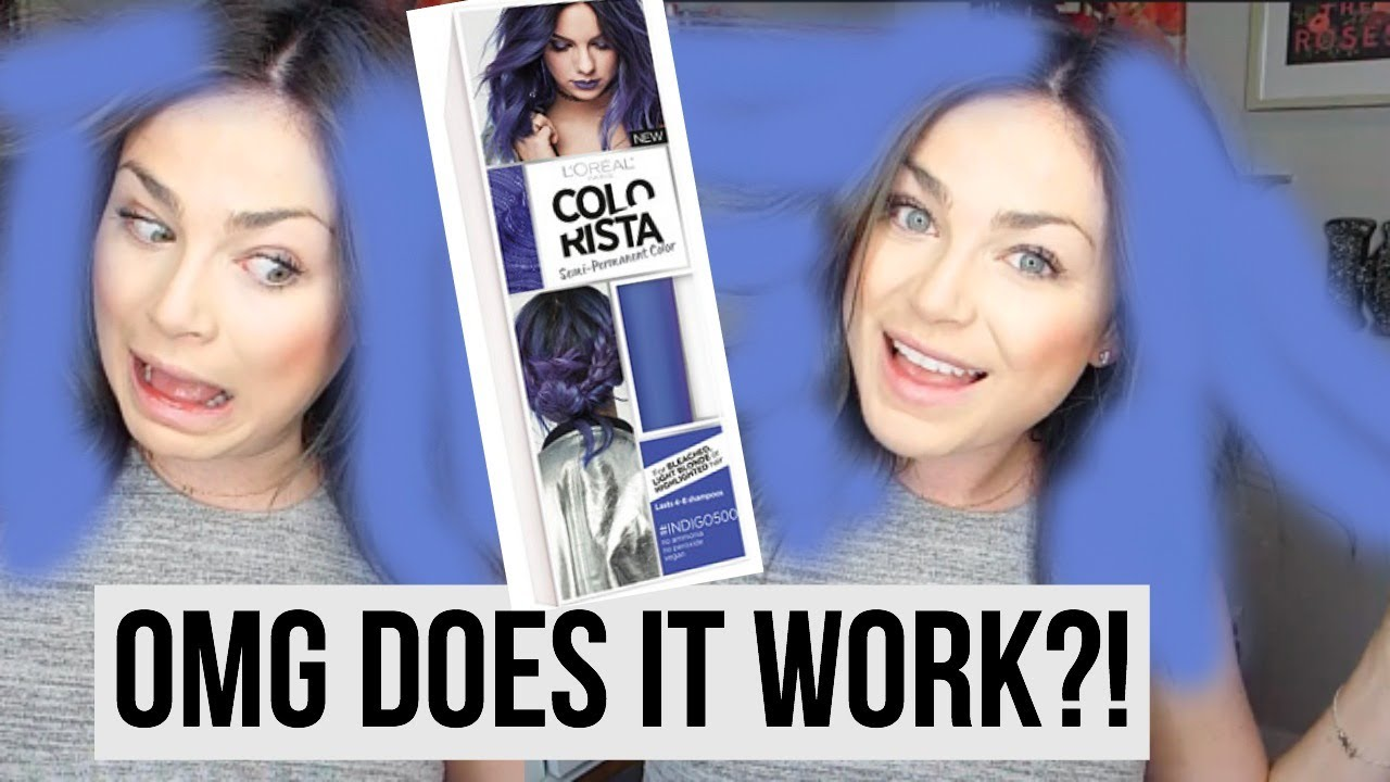 LOreal Colorista Review Indigo DYING MY HAIR PURPLE