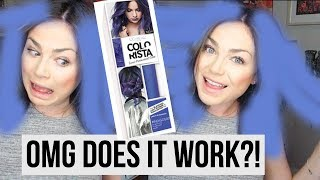 L'Oreal Colorista Review - Indigo || DYING MY HAIR PURPLE?!