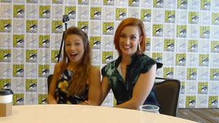 Dominique Provost-Chalkley and Katherine Barrell for Wynonna Earp at SDCC 2017