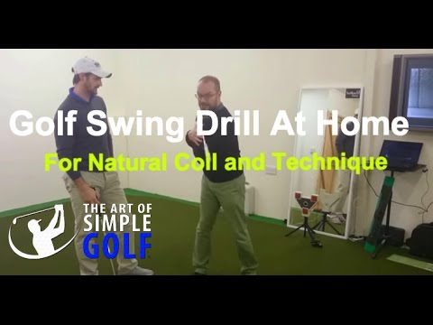 Golf Swing Drill at Home for Natural Coil and Technique