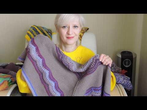 Магия вязания*Цветотерапия*Косынки шали бактусы спицами