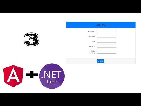 Angular 8 with ASP.Net Core Tutorial part 3 Sigin Up From thumbnail