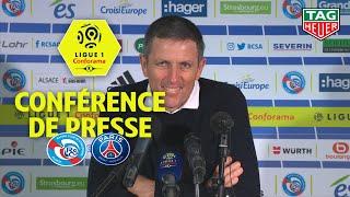 Conférence de presse RC Strasbourg Alsace - Paris Saint-Germain ( 1-1 )  / 2018-19