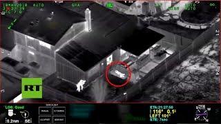 La persecución policial a un afroestadounidense que acabó siendo abatido vista desde un helicóptero