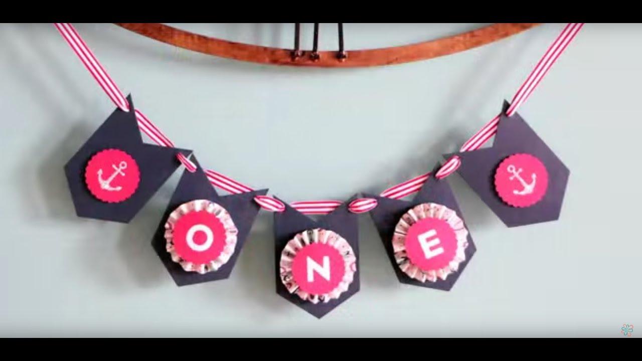 DIY Birthday Banner - YouTube
