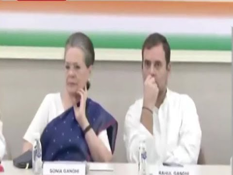 CWC accepts Rahul Gandhi's resignation, names Sonia interim Cong President