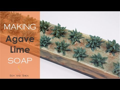 Agave Lime Cold Process Soap - Making & Cutting | Soy and Shea